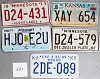 Saturday Special lot # 531, group of 5 mixed old license plates