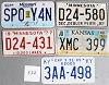 Saturday Special lot # 532, group of 5 mixed old license plates