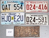 Saturday Special lot # 533, group of 5 mixed old license plates