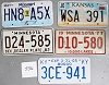 Saturday Special lot # 536, group of 5 mixed old license plates