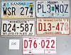 Saturday Special lot # 538, group of 5 mixed old license plates