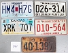 Saturday Special lot # 541, group of 5 mixed old license plates