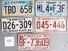 Saturday Special lot # 542, group of 5 mixed old license plates