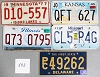 Saturday Special lot # 543, group of 5 mixed old license plates