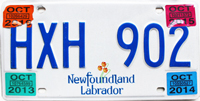 Newfoundland And Labrador License Plate