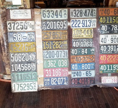 Old License Plates In Action