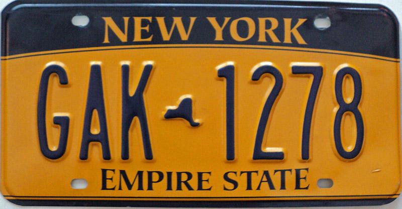 Vintage New York License Plates 14