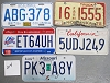 Saturday Special lot # 214, group of 5 mixed old license plates