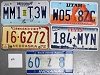 Saturday Special lot # 216, group of 5 mixed old license plates