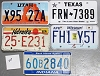 Saturday Special lot # 217, group of 5 mixed old license plates