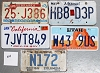 Saturday Special lot # 224, group of 5 mixed old license plates