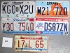 Saturday Special lot # 226, group of 5 mixed old license plates