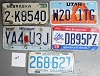 Saturday Special lot # 227, group of 5 mixed old license plates