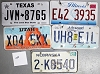 Saturday Special lot # 228, group of 5 mixed old license plates