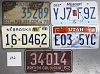 Saturday Special lot # 236, group of 5 mixed old license plates