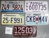 Saturday Special lot # 239, group of 5 mixed old license plates