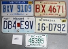 Saturday Special lot # 243, group of 5 mixed old license plates