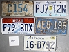 Saturday Special lot # 246, group of 5 mixed old license plates