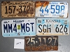 Saturday Special lot # 247, group of 5 mixed old license plates