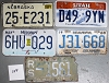 Saturday Special lot # 249, group of 5 mixed old license plates