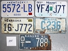 Saturday Special lot # 251, group of 5 mixed old license plates