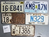 Saturday Special lot # 252, group of 5 mixed old license plates