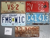 Saturday Special lot # 253, group of 5 mixed old license plates