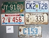 Saturday Special lot # 254, group of 5 mixed old license plates