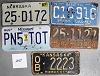 Saturday Special lot # 257, group of 5 mixed old license plates