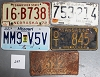 Saturday Special lot # 259, group of 5 mixed old license plates