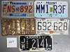 Saturday Special lot # 262, group of 5 mixed old license plates