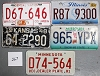 Saturday Special lot # 267, group of 5 mixed old license plates