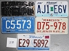 Saturday Special lot # 270, group of 5 mixed old license plates