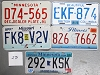 Saturday Special lot # 271, group of 5 mixed old license plates