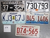 Saturday Special lot # 272, group of 5 mixed old license plates