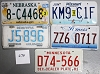 Saturday Special lot # 274, group of 5 mixed old license plates