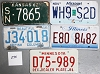 Saturday Special lot # 275, group of 5 mixed old license plates