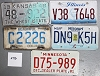 Saturday Special lot # 276, group of 5 mixed old license plates