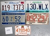 Saturday Special lot # 277, group of 5 mixed old license plates