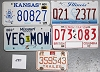 Saturday Special lot # 280, group of 5 mixed old license plates