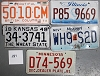 Saturday Special lot # 281, group of 5 mixed old license plates