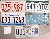 Saturday Special lot # 283, group of 5 mixed old license plates