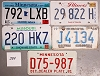 Saturday Special lot # 284, group of 5 mixed old license plates