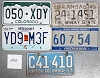 Saturday Special lot # 285, group of 5 mixed old license plates