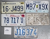 Saturday Special lot # 286, group of 5 mixed old license plates