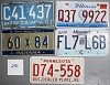 Saturday Special lot # 290, group of 5 mixed old license plates