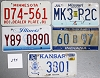 Saturday Special lot # 295, group of 5 mixed old license plates