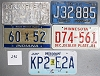 Saturday Special lot # 296, group of 5 mixed old license plates