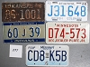 Saturday Special lot # 297, group of 5 mixed old license plates
