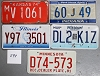 Saturday Special lot # 298, group of 5 mixed old license plates